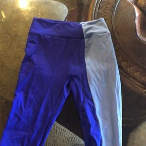 Gymshark duo cobalt/blue leggings small